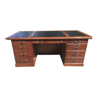 Kimball Presidential Leather-Topped Desk