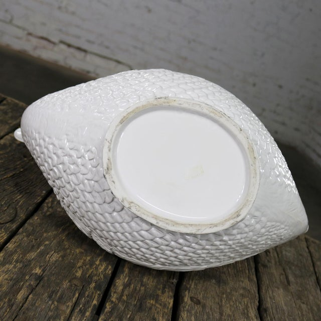 White Large Pure White Porcelain Swan Jardinière Planter or Serving Tureen For Sale - Image 8 of 13
