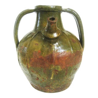 19thc. French Two-Handled Terra Cotta Ewer/Jug For Sale