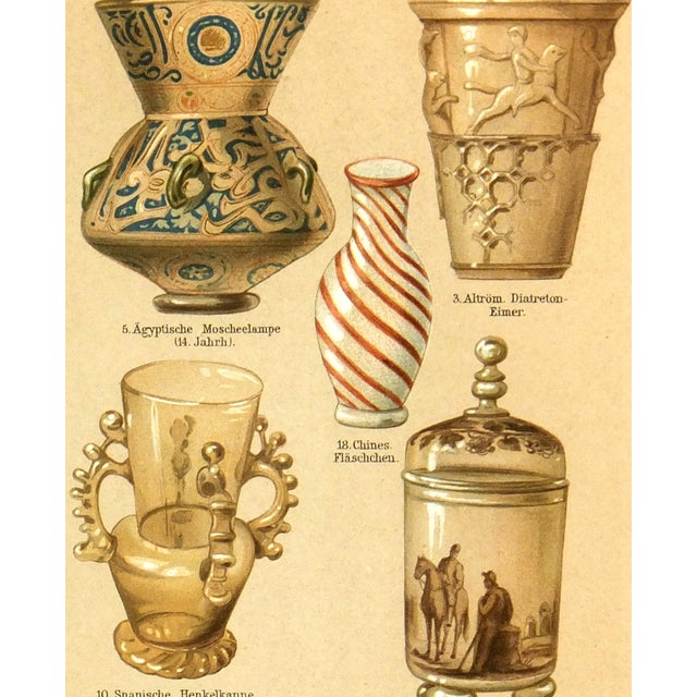 Antique Lithograph, Glassworks 1894 - Image 2 of 3