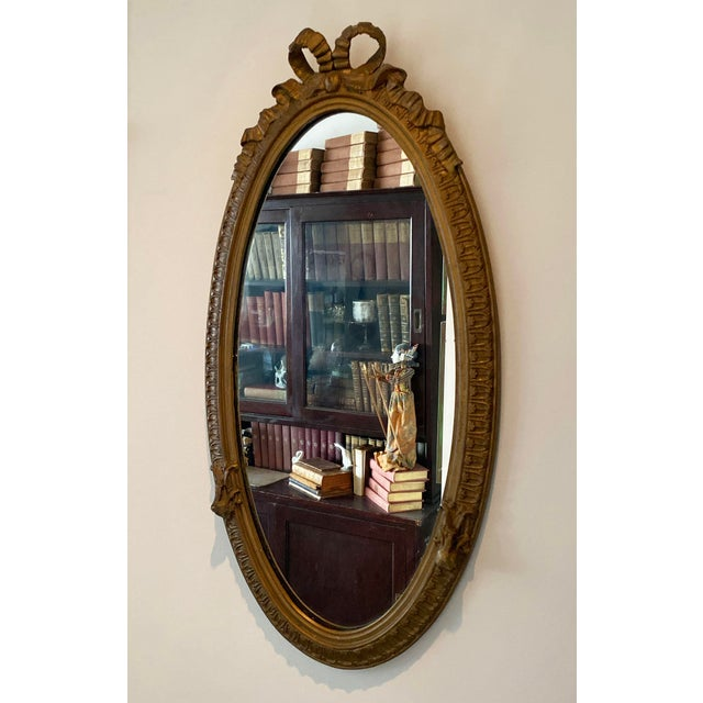 Louis XVI Carved Giltwood Mirror For Sale - Image 9 of 10