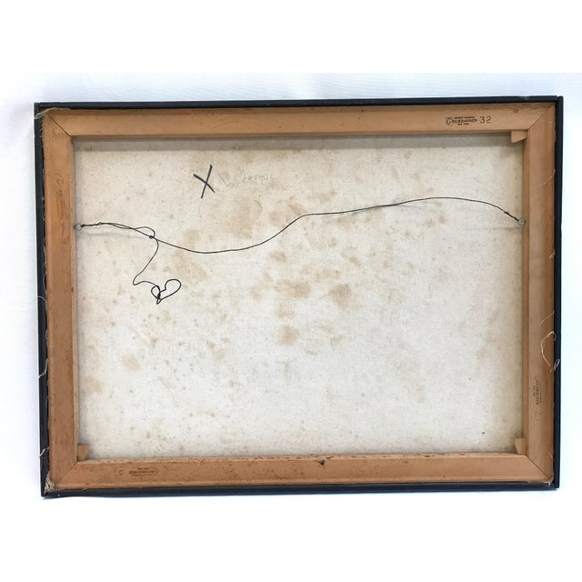 1960s Abstract Sun Oil Painting For Sale - Image 9 of 9