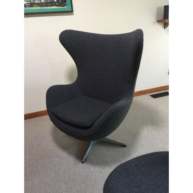 Mid Century Modern Egg Chair - Designed by Arne Jacobsen in 1958 For Sale In Seattle - Image 6 of 13