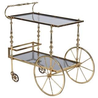 Mid-Century Brass Bar Cart from Spain