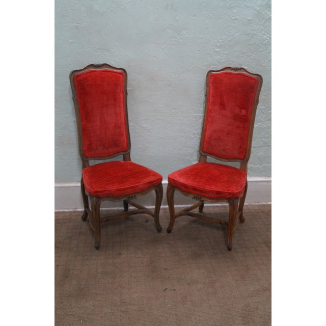 Karges Vintage French High Back Dining Chairs - 8 - Image 2 of 10