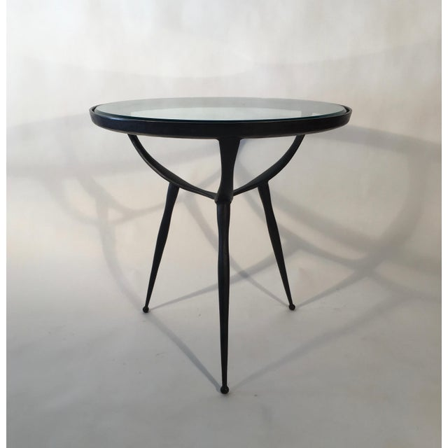 1970s Solid Cast Bronze Table For Sale - Image 5 of 5