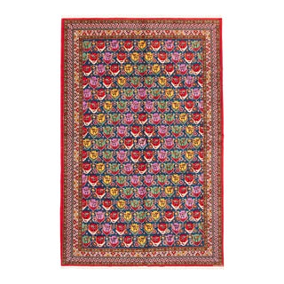 Bohemian Hand-Knotted Rug For Sale