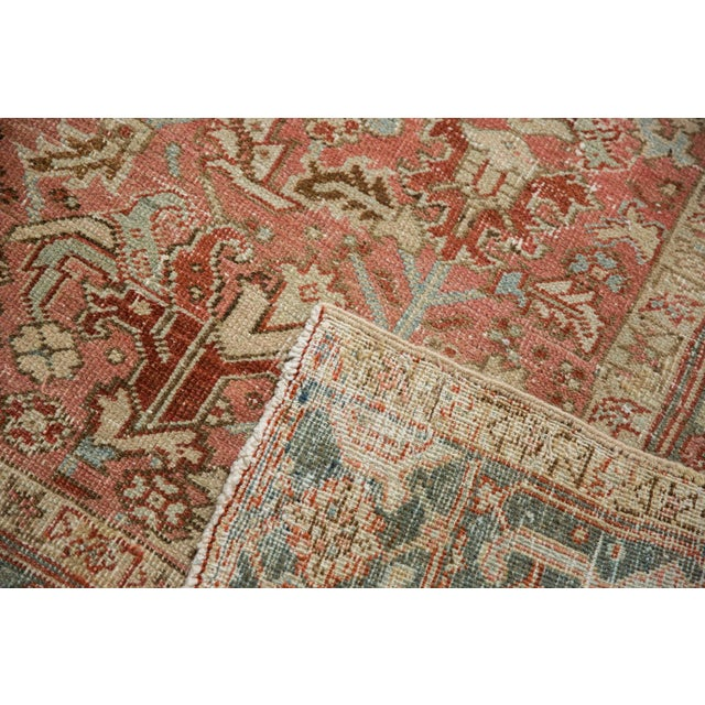 """Vintage Distressed Heriz Carpet - 6'8"""" X 9'6"""" For Sale - Image 9 of 13"""