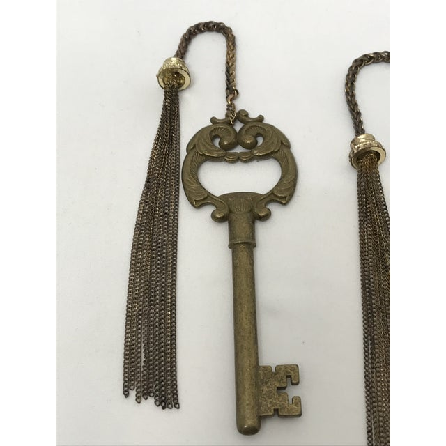 Early 20th Century Ornate Brass Keys - a Pair For Sale - Image 5 of 8