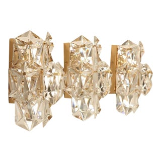 Vintage Kalmar Austrian Crystal Wall Sconces - Set of 3