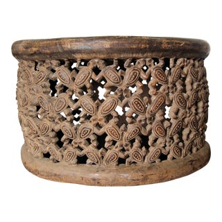 African Carved Wood Stool For Sale