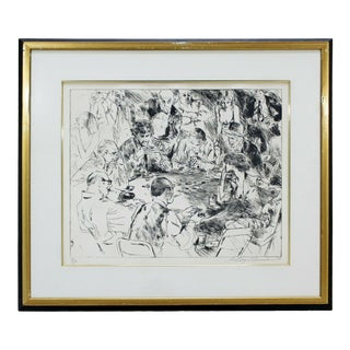 Mid Century Modern Framed Game of Life Etching Signed Leroy Neiman 191/250 For Sale