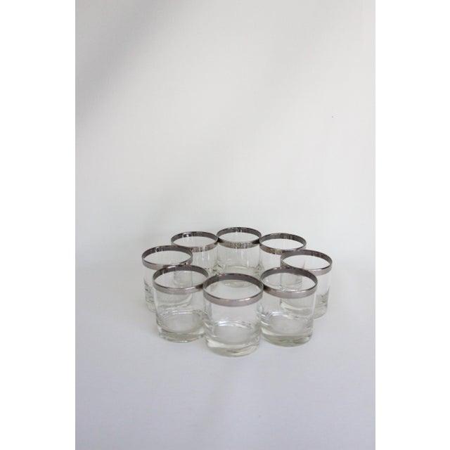 Dorothy Thorpe Silver Rim Rock Glasses – Set of 8 - Image 2 of 7