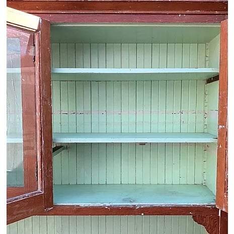 1910s Antique Farmhouse Hutch For Sale - Image 5 of 8