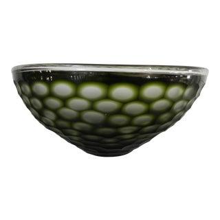 GuildMaster Gogli Chiseled Green Bowl For Sale