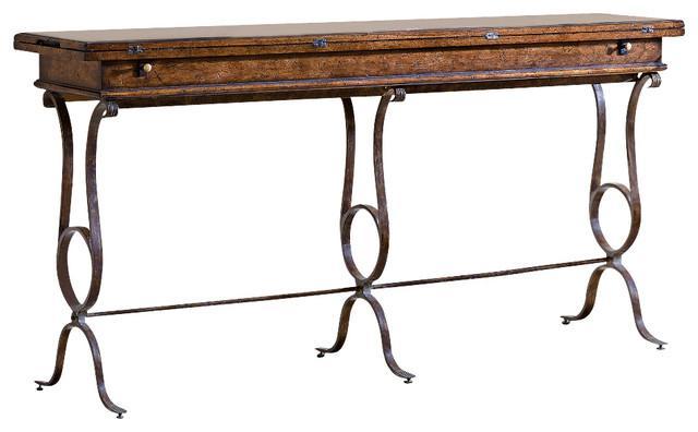 Stanley Villette Flip Top Console Table Chairish