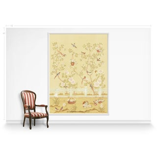 Casa Cosima Yellow Indra Diptych Wallpaper Mural - Sample Preview