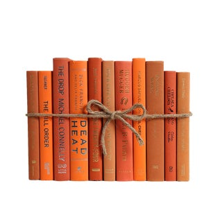 Modern Grove ColorPak - Decorative Books in Shades of Orange For Sale