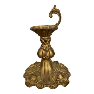 Late 19th Century French Bronze Doire Candlestick Fragment For Sale