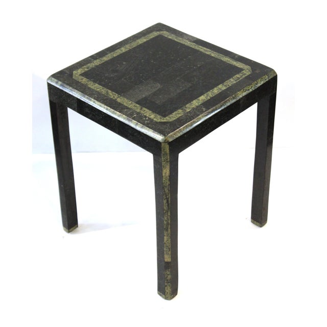Modern Maitland-Smith Modern Nesting Tables in Tessellated Stone - Set of 3 For Sale - Image 3 of 13