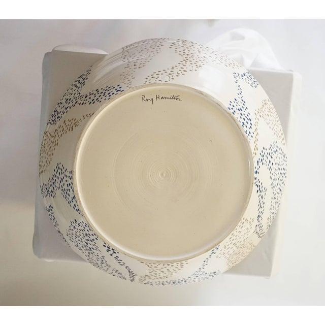 "White Roy Hamilton ""Faux Marble"" Bowl, Circa 1980 For Sale - Image 8 of 9"