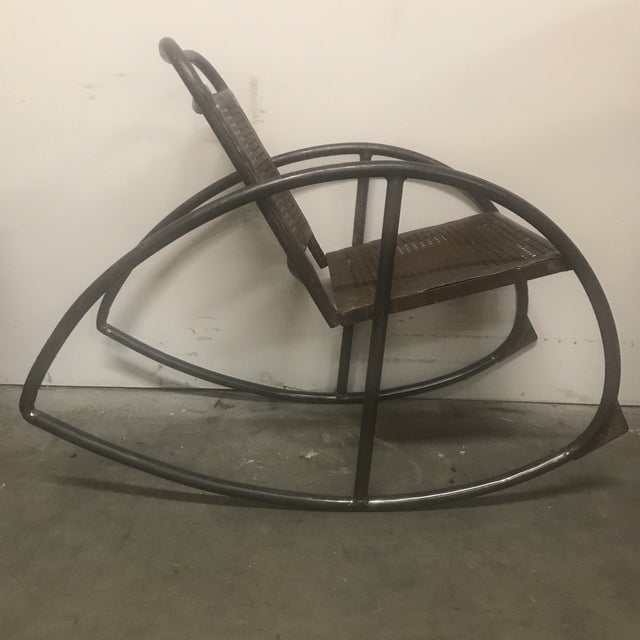 1950s 1950s Vintage Metal Porch Rockers- a Pair For Sale - Image 5 of 6