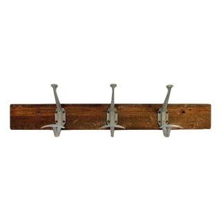 3-Hook Aluminum Wooden Rack For Sale