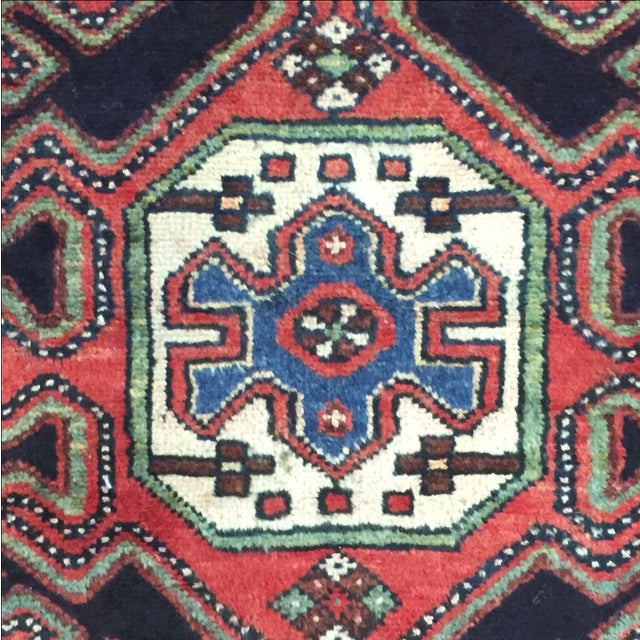 Persian Hamadan Runner - 2′11″ × 10′6″ - Image 7 of 9