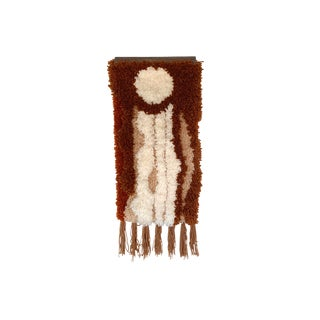 Vintage 1970s Abstract Boho Yarn Fiber Art Wall-Hanging For Sale