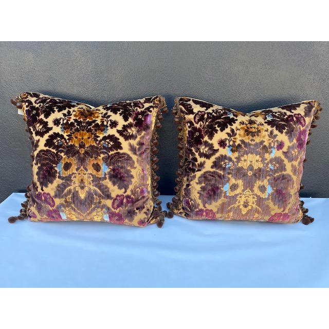 Pair of Luigi-Bevilacqua Silk Velvet in pruple . Trim> Janet Yonati calssi elegant design.