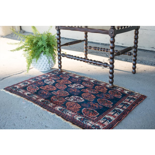 """Antique Perisan Mat Small Rug - 2'x3'2"""" - Image 3 of 5"""