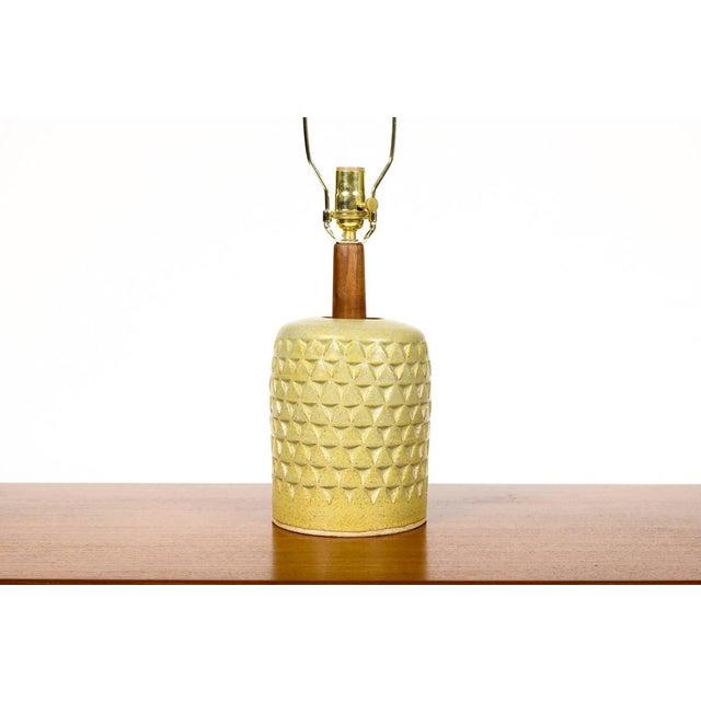 Danish Modern Christian Boehr Ceramic Stoneware Table Lamp For Sale - Image 3 of 5