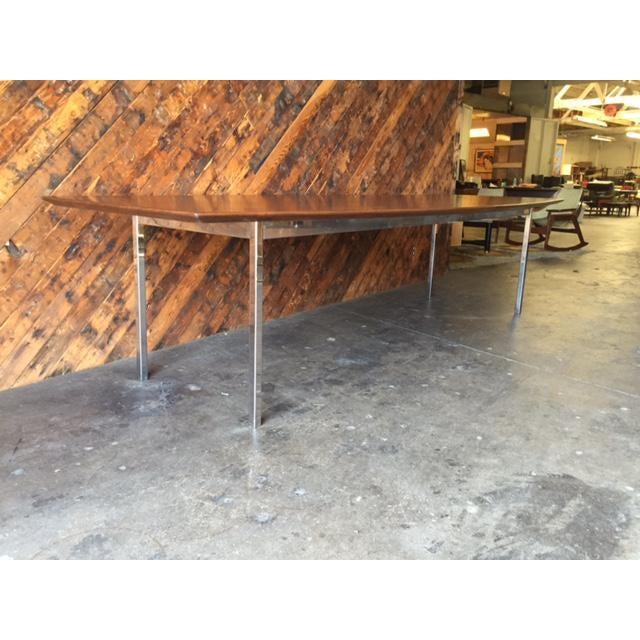 Mid Century Extra Large Solid Walnut Dining Conference Table By - Extra large conference table
