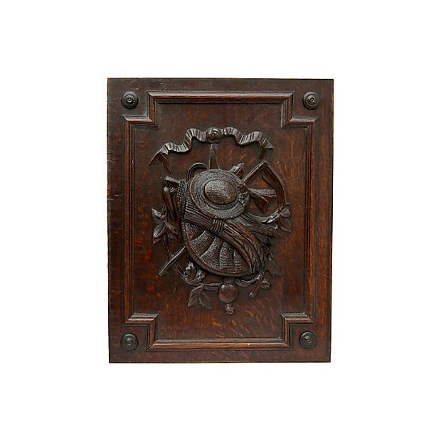 Cottage Antique French Carved Wall Panel For Sale - Image 3 of 3