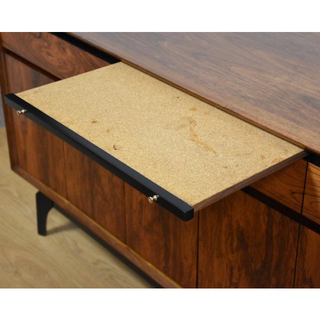 Mid-Century Rosewood and Walnut Credenza - Image 11 of 11