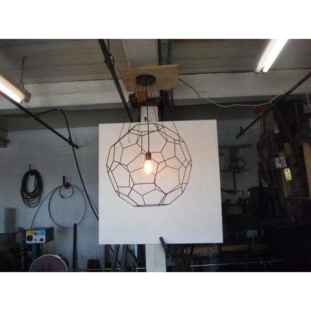 Truncated Icosahedron Pendant Light For Sale - Image 4 of 4