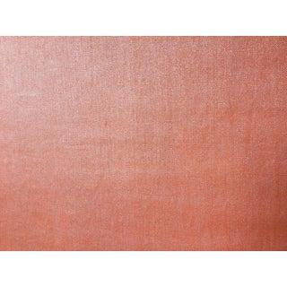 Orange Linen With Silver Metallic Finish by Elitis