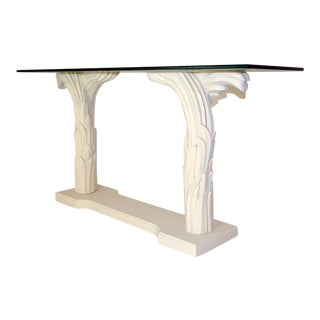 Serge Roche Style Palm Console For Sale