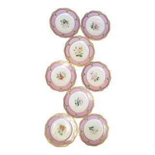 19th Century Davenport Dessert Plates - Set of 8 For Sale