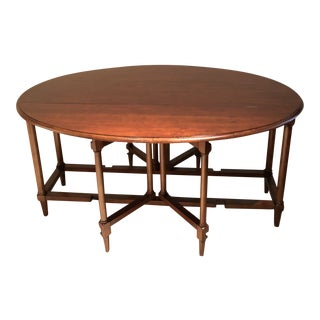 Thomasville Gate Legged Drop Leaf Sofa Table / Dining Table For Sale