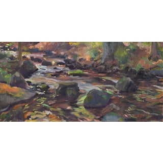 Impressionist The Stream Painting on Canvas For Sale