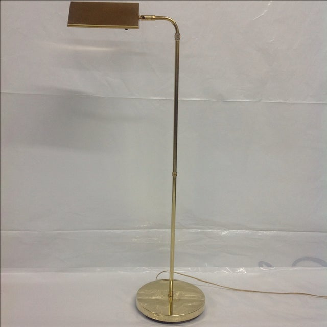 Danish Modern Mid Century Articulated Brass Pharmacy Lamp For Sale - Image 3 of 4