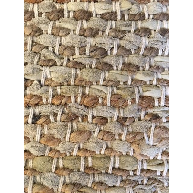 Leather & Fiber Woven Rug - 8′ × 10′ - Image 5 of 7