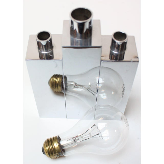 Hans-Agne Jakobsson Swedish Chrome-Plated Candle Holders - Set of 3 For Sale - Image 5 of 11