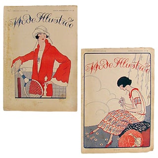 French Art Deco Fashion Journals C.1920, Pair For Sale