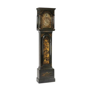 English Chinoiserie Long Case Clock For Sale