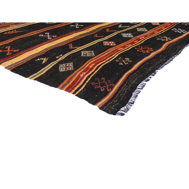 Turkish Tribal Design Kilim - 6′5″ × 12′ For Sale - Image 4 of 4