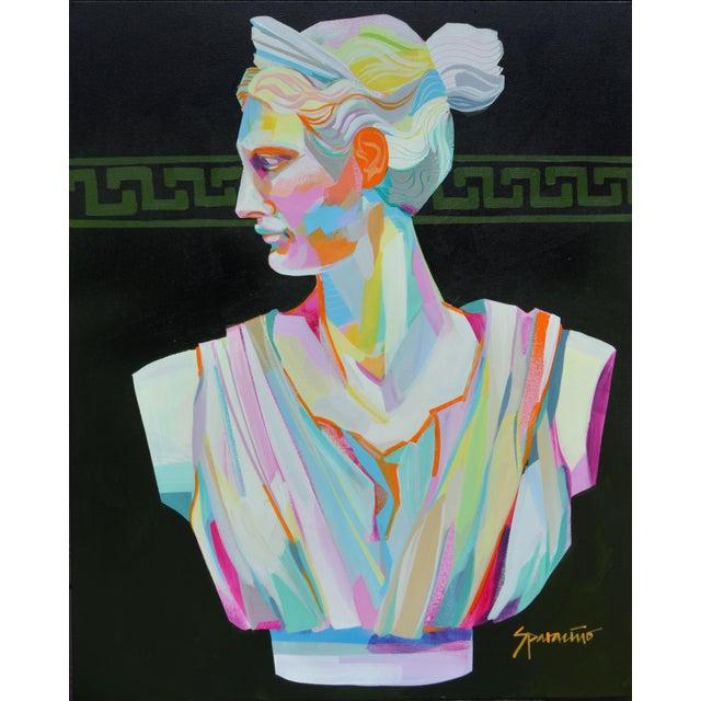 Pop Art Pop Art Acrylic Painting, Greek Bust 1 For Sale - Image 3 of 3