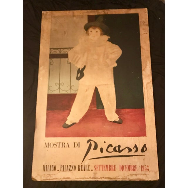 "Modern 5 Feet Tall ""Mostra DI Picasso"" Exposition at Palazzo Reale Original Exposition Poster For Sale - Image 3 of 3"