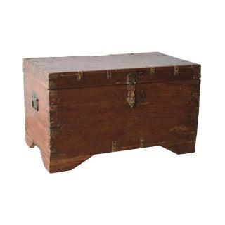 Rustic Teak Wood Storage Box